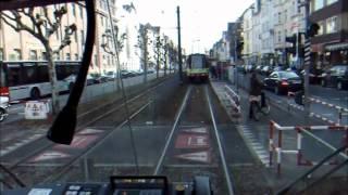 Stadtbahn Düsseldorf Führerstandsmitfahrt GT8SU Linie U75