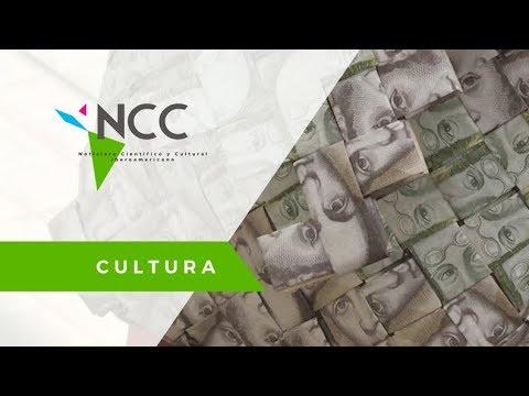 Billetes devaluados sirven para crear arte