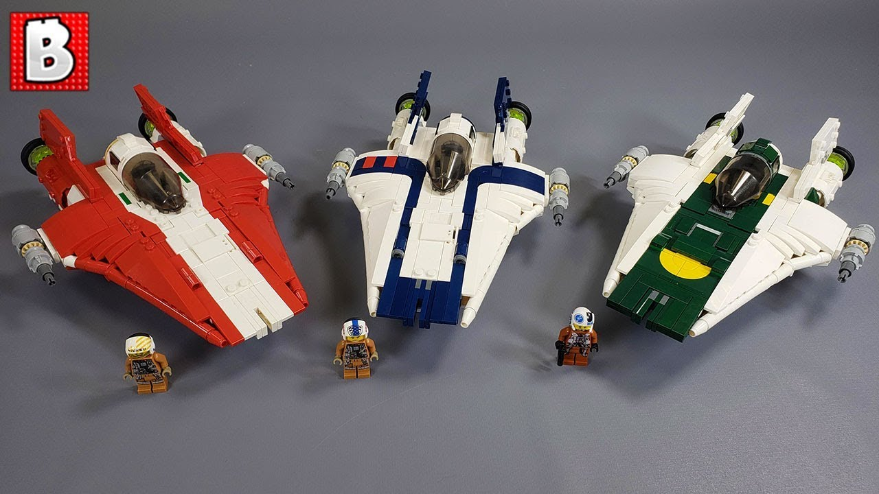 Excellent LEGO Resistance A-wing Custom Builds! RZ-2 Starfighter