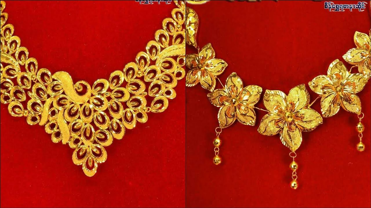 Gold necklace design ideas | latest 2018 collection - YouTube
