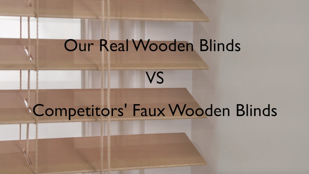 Real wood vs faux wood blinds - Faux Vs Real Wood Blinds