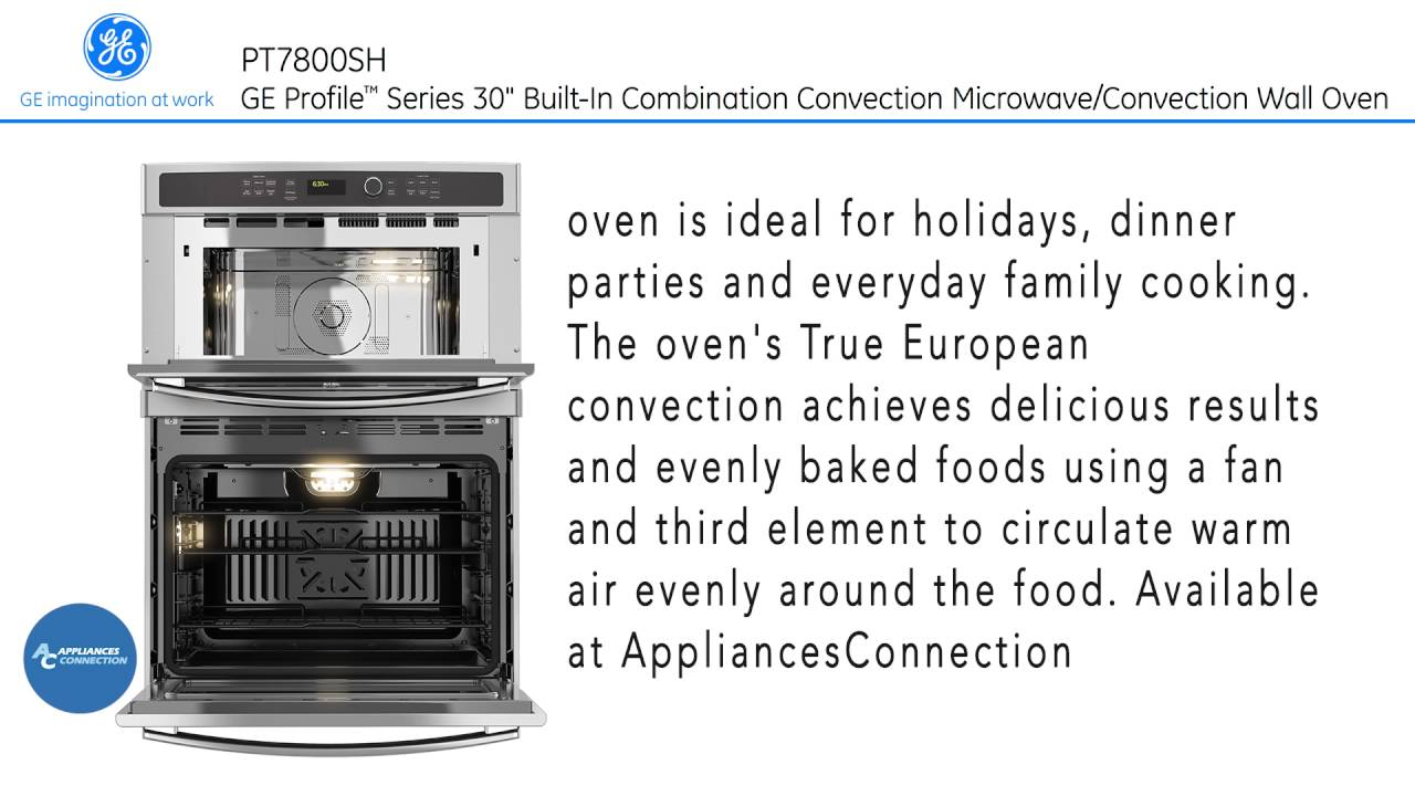 ge profile built in convection microwave wall oven pt7800shss at www appliancesconnection com