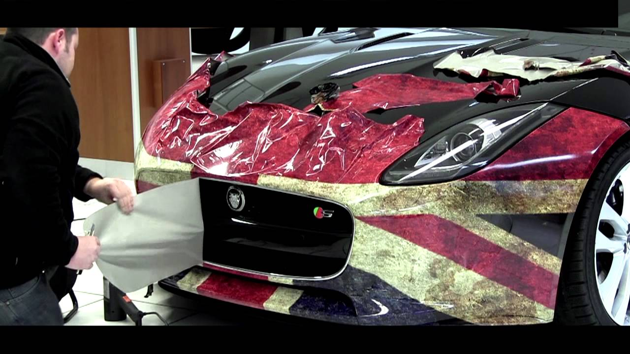 Jaguar F Type Car Wrapping Union Jack Von Designreich