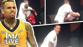 Chris Brown Catches Fainting Kid Onstage! | TMZ Live