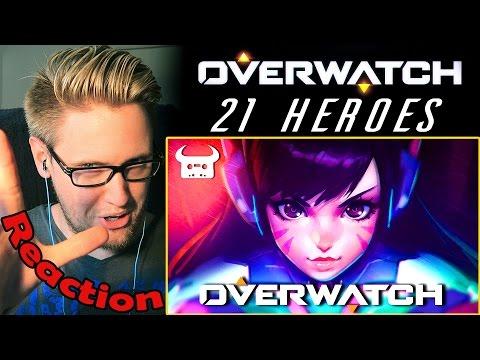 """OVERWATCH EPIC RAP """"21 HEROES"""" by Dan Bull REACTION!   MY HERO!  """