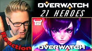 "OVERWATCH EPIC RAP ""21 HEROES"" by Dan Bull REACTION! 
