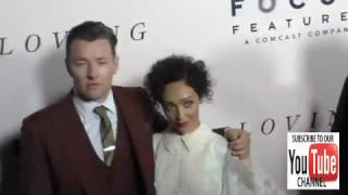 Joel Edgerton and Ruth Negga at the Premiere Of Focus Features