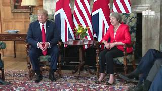 President Trump Participates in a Bilateral Meeting with the Prime Minister of the United Kingdom