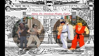 Mugen : El Chavo del Ocho & Don Ramon vs Ryu & Ken (Request)