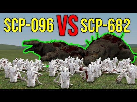 SCP-096 VS SCP-682! (gmod scp)