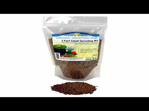 Certified Organic Alfalfa Sprouting Seed 2.5 Lbs Handy Pantry Brand High Sp