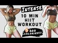 INTENSE HIIT WORKOUT before your CHEAT MEAL | BURN 200 CALORIES IN 10 MINS