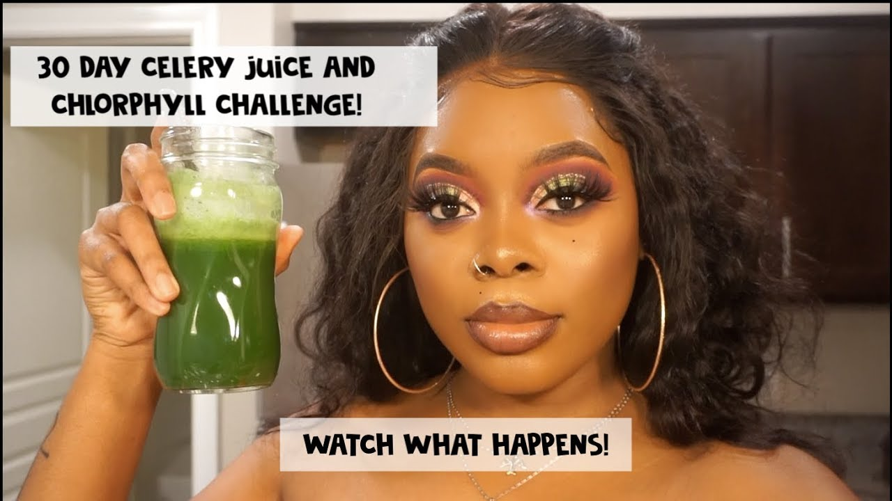 I DRANK CELERY JUICE & CHLOROPHYLL FOR 30 DAYS! | Benefits Of Drinking  Celery Juice & Chlorphyll