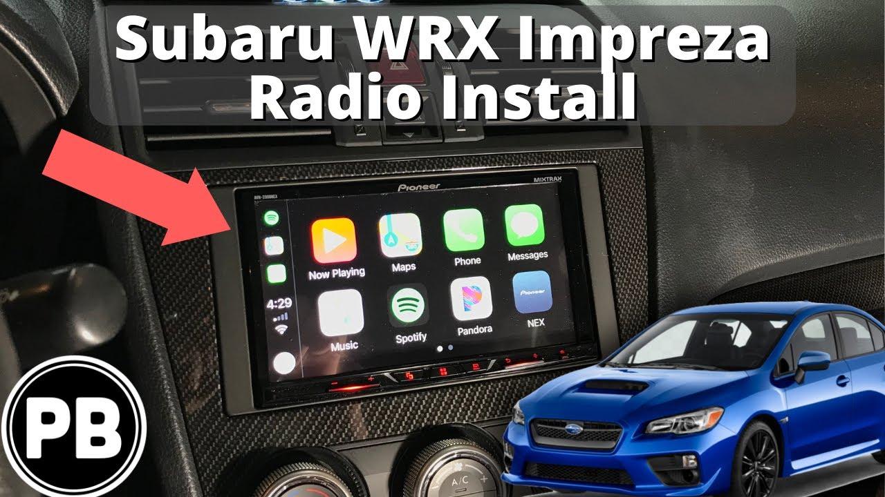 hight resolution of 2015 2018 subaru wrx sti dvd radio install avh 2300nex