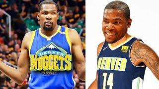 Kevin Durant Joins Nuggets After Losing! Denver Nuggets vs Golden State Warriors! 2017 NBA Preseason