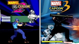MvC2 vs MvC3! Super/special/combo comparison!
