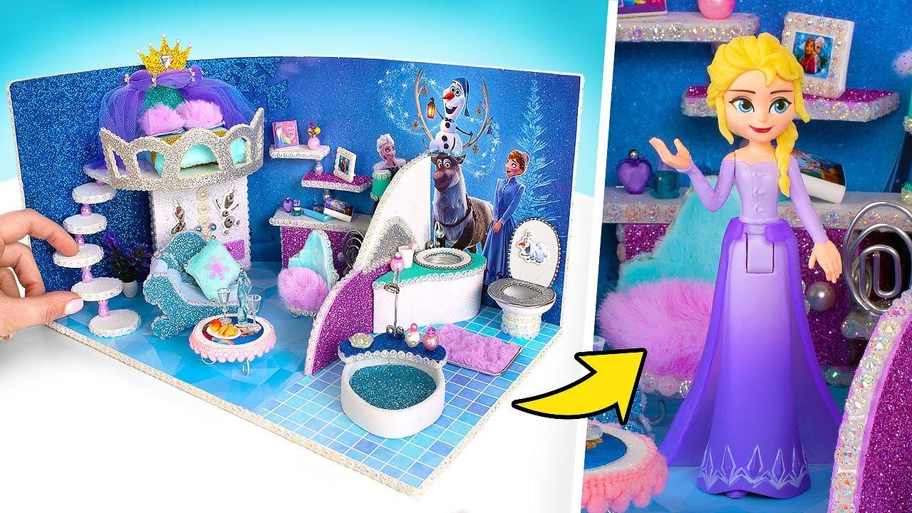Construindo uma casa em miniatura para a Rainha Elsa com um design fantástico