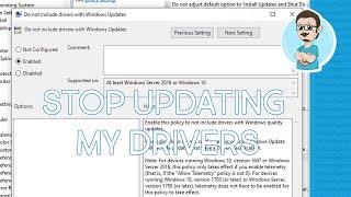 Windows 10   Stop Windows Auto Update Hardware Drivers!