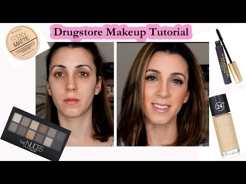Drugstore Makeup Tutorial - Maybelline In the Nudes Palette