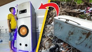 Recycle Fridge from landfill into Giant Speaker Box!