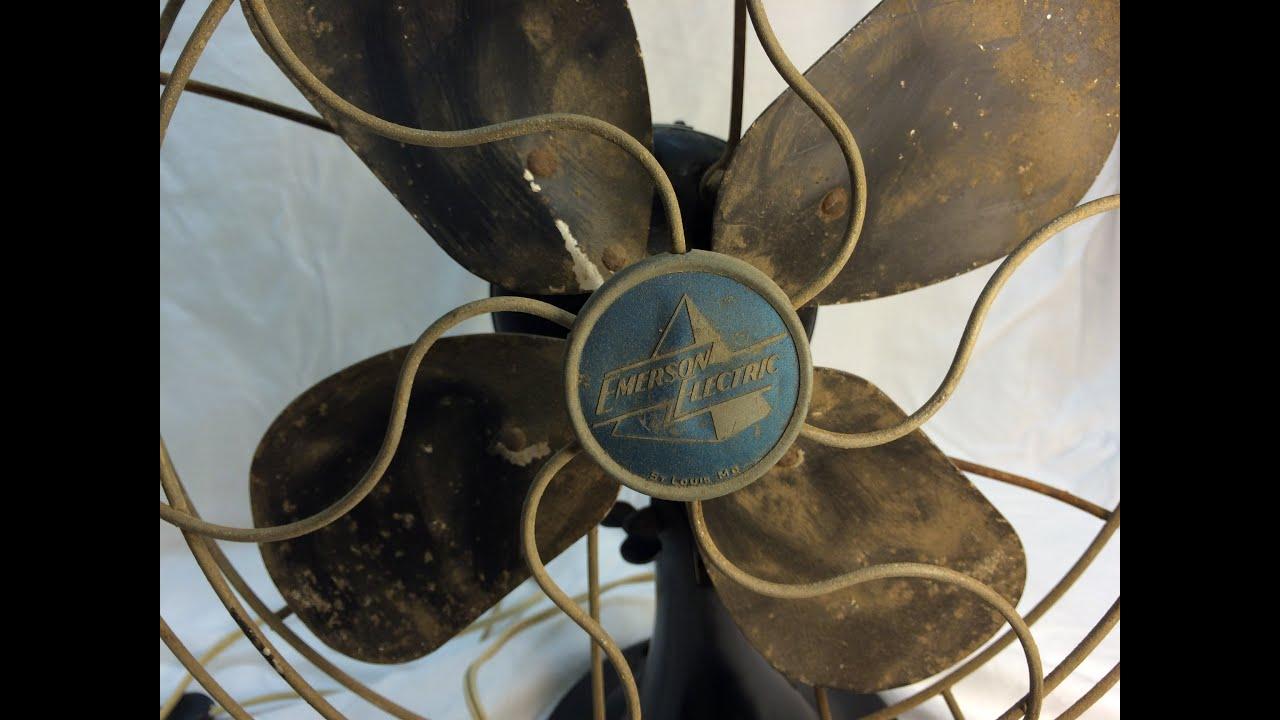 1949 Emerson 2450 G Desk Fan Restoration Part I before