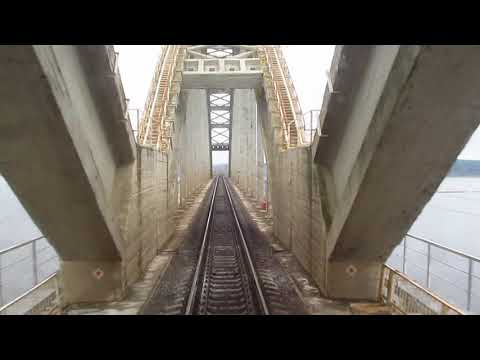 Железнодорожный мост у станции Волга. Рыбинск.