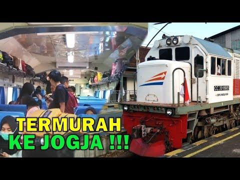 BEGINI RASANYA NAIK KERETA TERMURAH KE JOGJA !! Naik Kereta Bengawan Dari Jakarta Ke Yogyakarta
