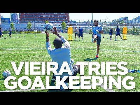 Patrick Vieira Tries Goalkeeping   INSIDE TRAINING
