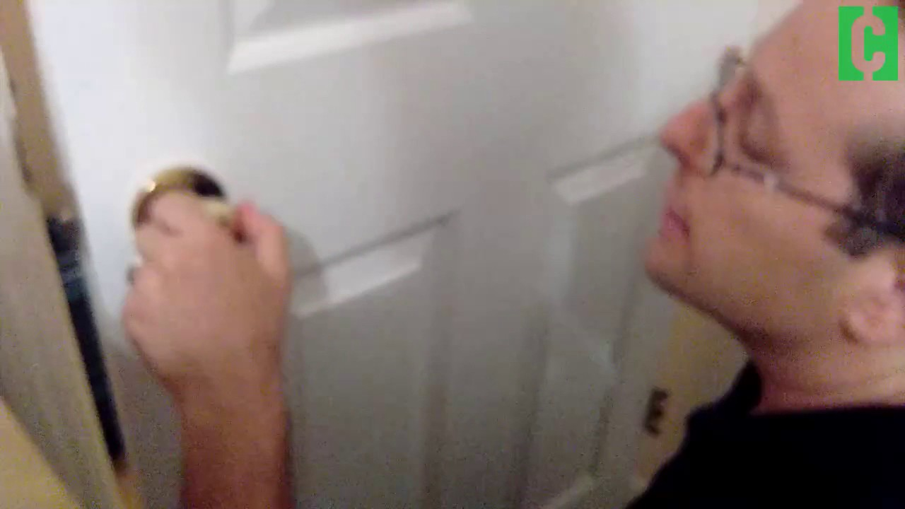 how to open a door that's locked from the inside  youtube