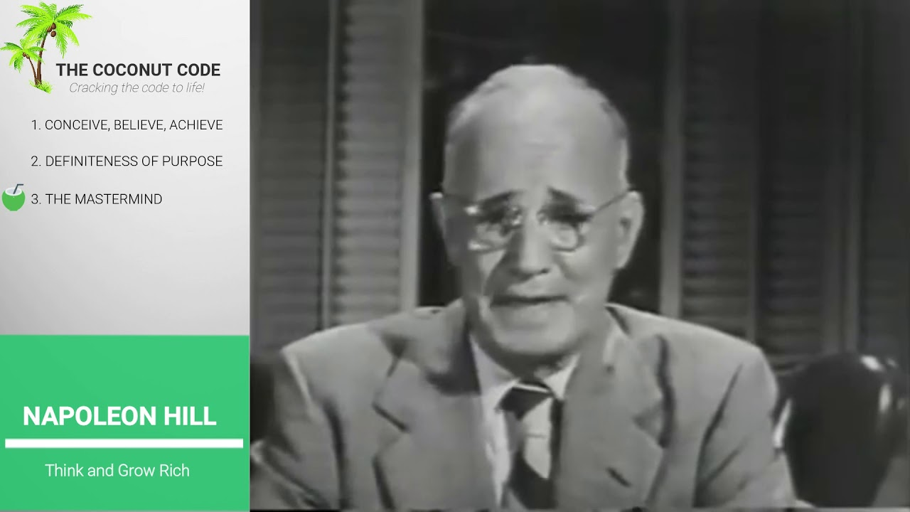 Napoleon Hill Think And Grow Rich 3 Mastery Laws Of Success Youtube