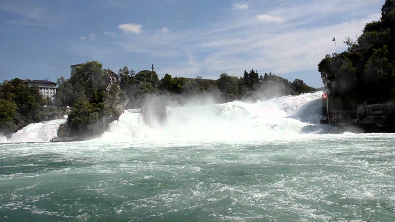 Watervallen Van Schaffhausen Zwitserland.Schaffhausen Zwitserland Waterval Youtube