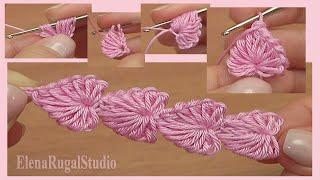 Crochet Mini Hearts String Tutorial 112 Häkeln Sie Herzen String