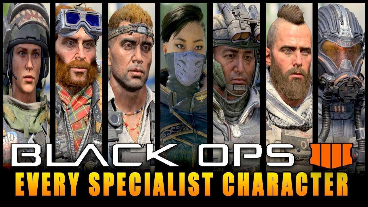 Every Specialist Character In Call Of Duty Black Ops 4 Cod Bo4
