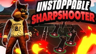 NBA 2K17|UNSTOPPABLE SHARPSHOOTER GOING ON A 20 GAME WIN STREAK WITH SUPERSTAR 4 MASCOT!!!|