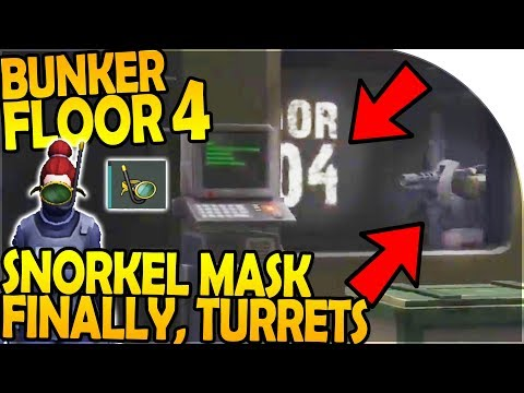 BUNKER ALPHA FLOOR 4 + TURRETS - FINALLY, SNORKEL MASK!! - Last Day On Earth Survival 1.7.8 Update