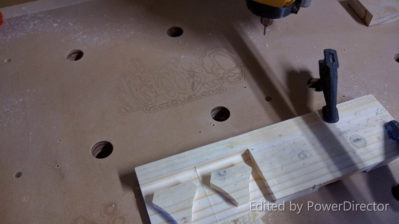 Mostly Printed CNC -MPCNC - Quick and dirty test run #4