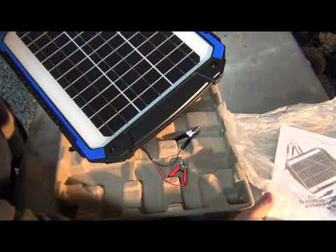 Solar powered battery charger and  tender by Suner power unboxing part 1