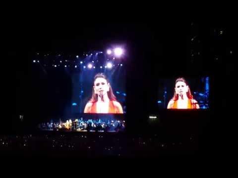 Paula Fernandes dá Vexame com Andrea Bocelli - Vivo Per Lei - São Paulo 13-Out-2016