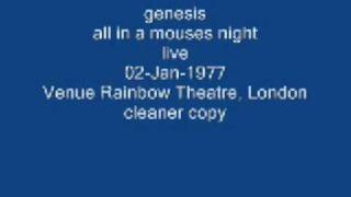 genesis- all in a mouses night- live