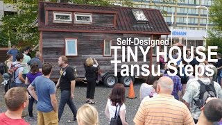 Tiny House Tansu Steps (self-built Stairs With Storage From Shipping Crates)