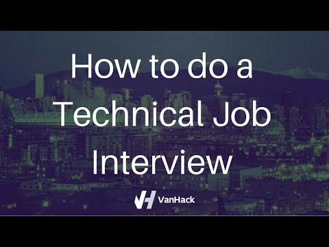 How to do a Technical Job Interview