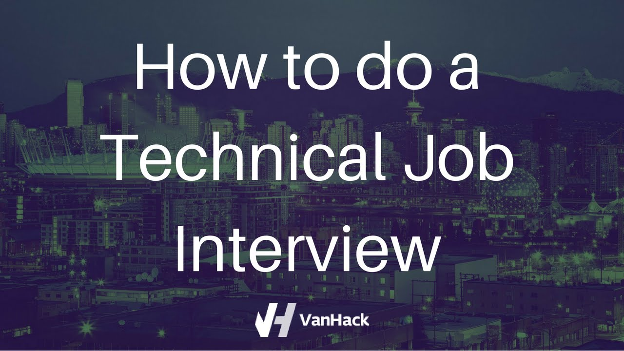 how to do job interviews