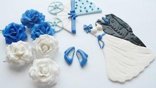 Часть 2 - *Свадебные наряды и Синие туфельки* из глины FIMO