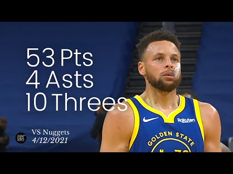 [Highlight] Steph Curry 52/6/4 10-18 from 3PT