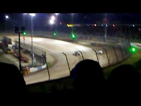 USAC non-winged sprint cars Eldora speedway heat 2