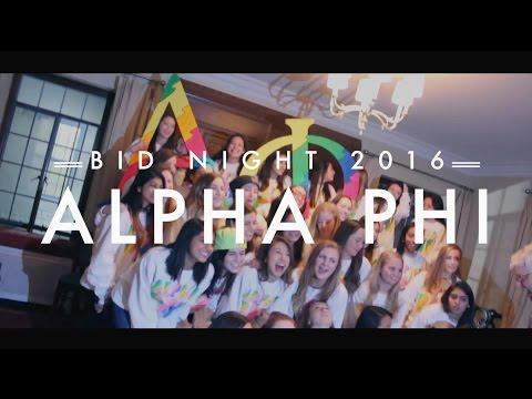 Alpha Phi NU Bid Night 2016
