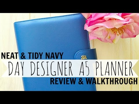 Day Designer A5 Planner//Review & Walkthrough//Ft. Neat & Tidy Navy