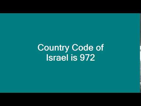 Country Code Of Israel Is 972