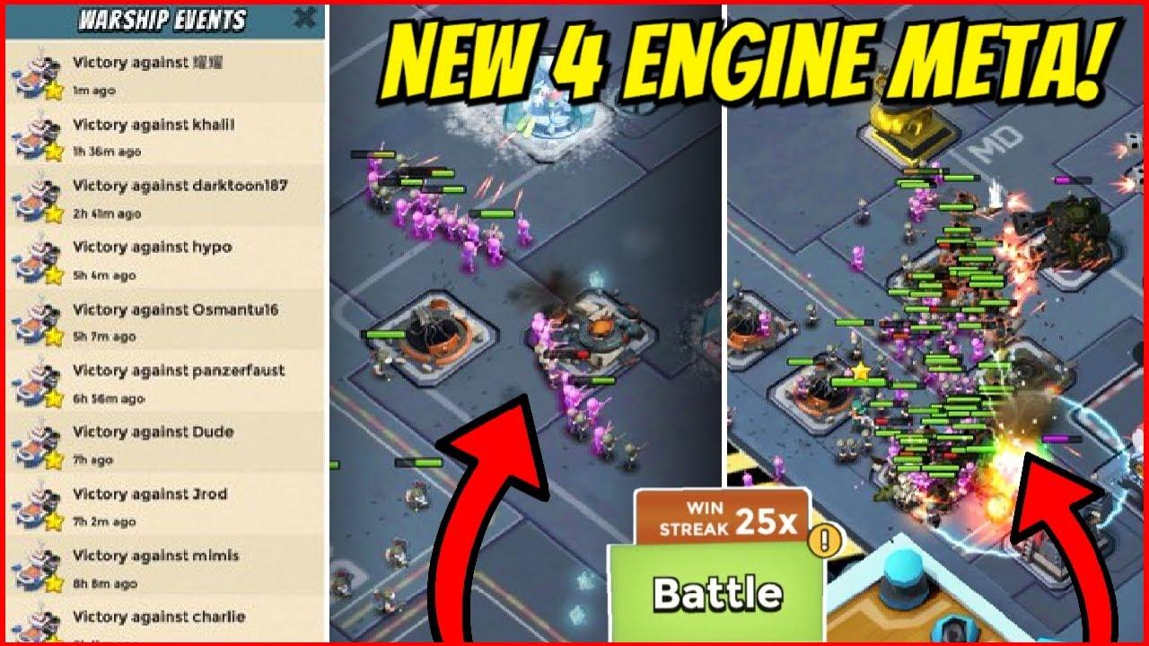 NEW 4 ENGINE META IN SEASON 13! // Boom Beach Warships