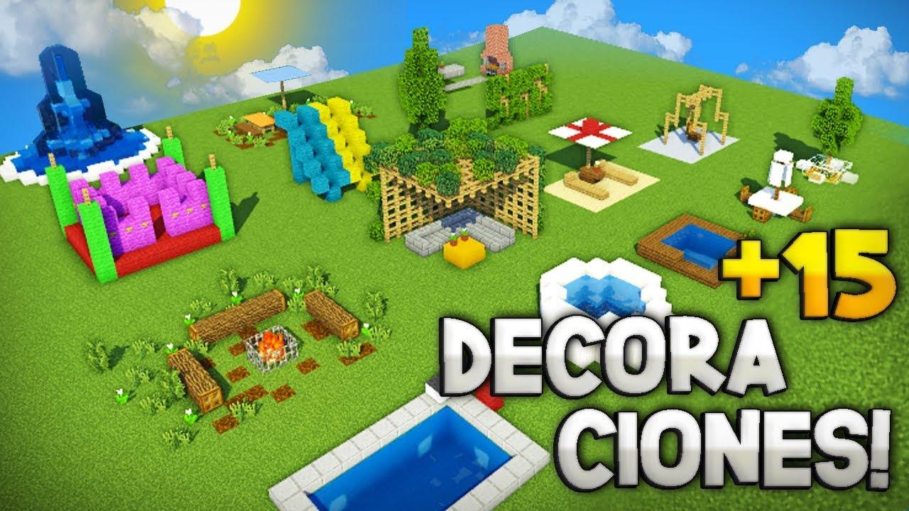 Minecraft Como Hacer De 15 Decoraciones Para El Patio De Tu Casa Ideas Decoración Para Tu Patio